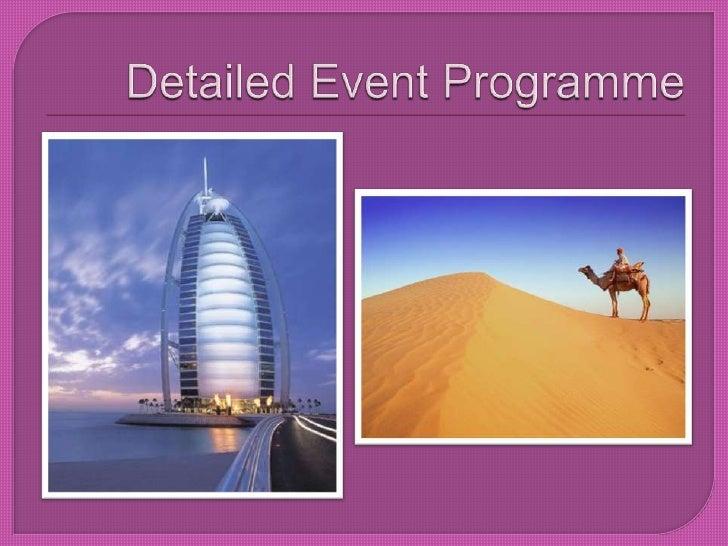 Detailed Event Programme <br />
