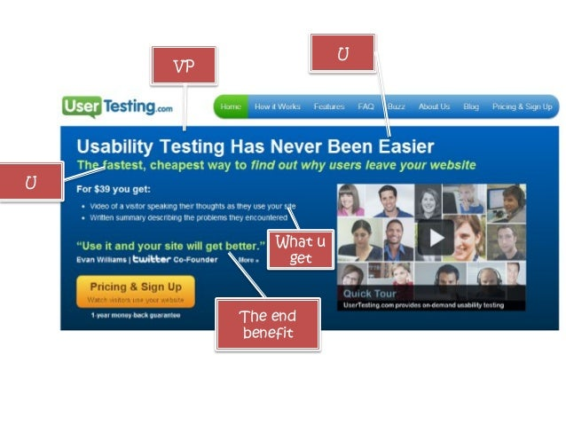 Subhead: tell us what it is (or what we get) in  CLEAR LANGUAGE KissMetrics  UserVoice 99designs