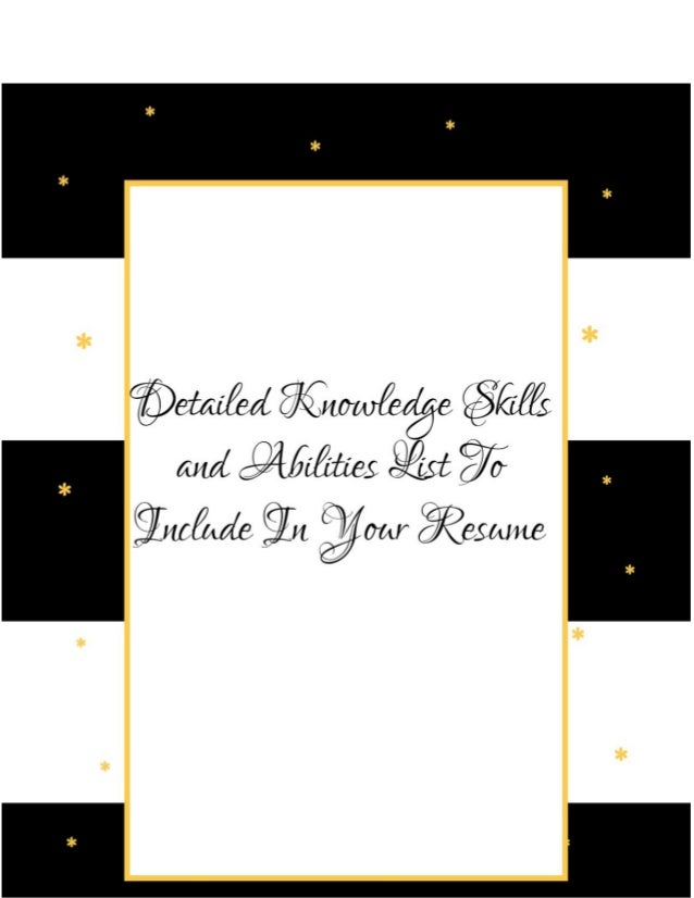What You Need to Know about Knowledge Skills and Abilities to Write i…