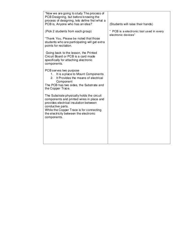 Sample Detailed Lesson Plan in Digital Electronics - PCB Designing