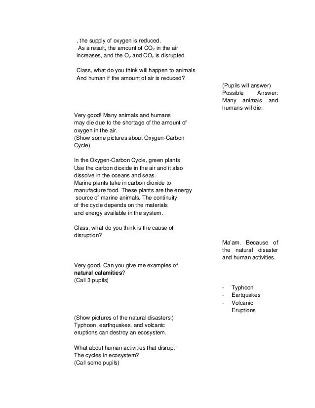 Detailed Lesson Plan In Science Vi