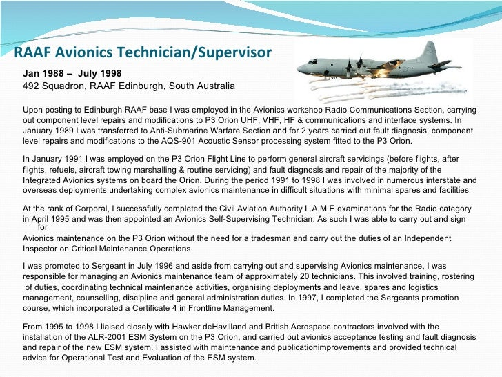 ... Avionics & Maintenance Manager; 22.