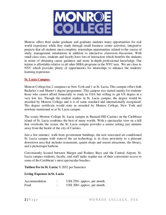 Monroe College  MC  Introduction and Academics   Bronx  NY