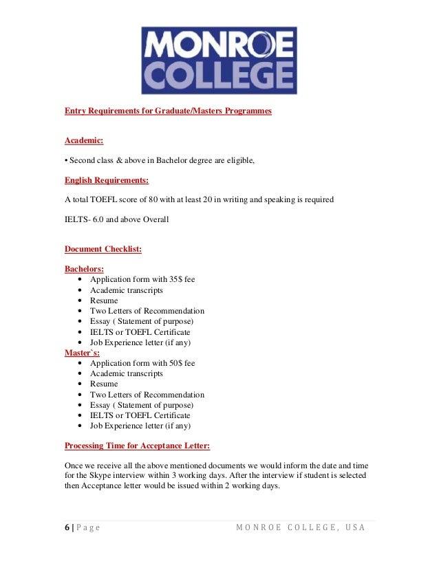 Monroe College Details