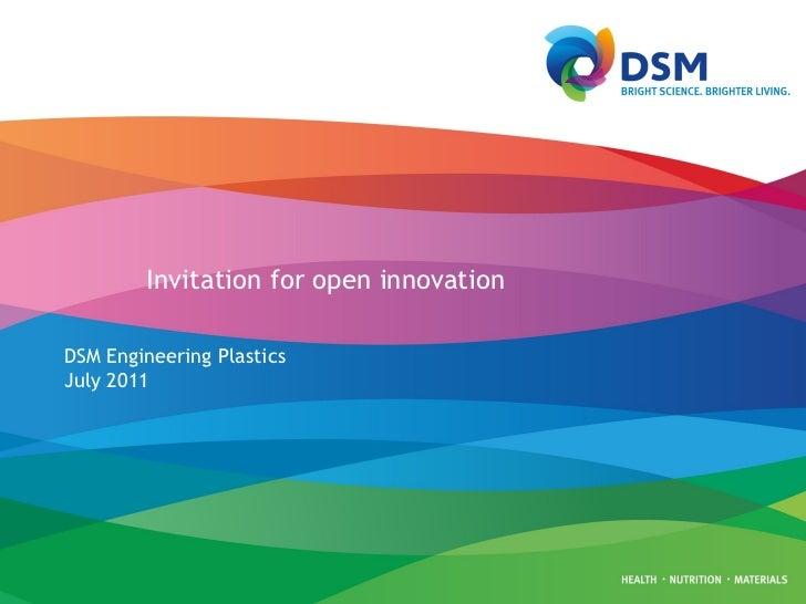 Invitation for open innovation