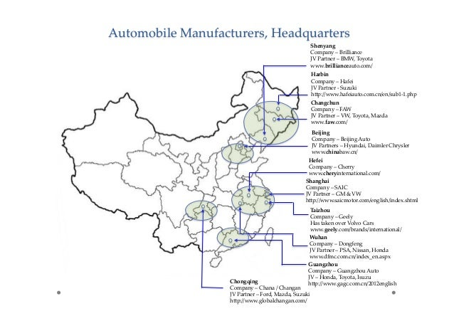 Details Of Industrial Clusters For Automotive Biomedical
