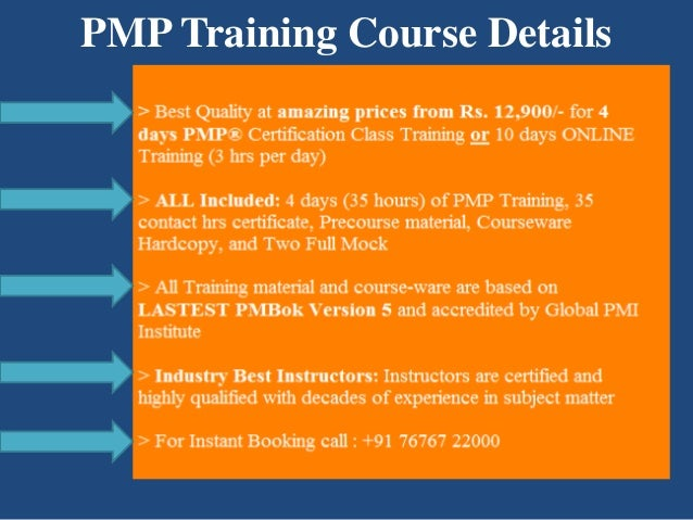 Details of PMP Training Course in Hyderabad