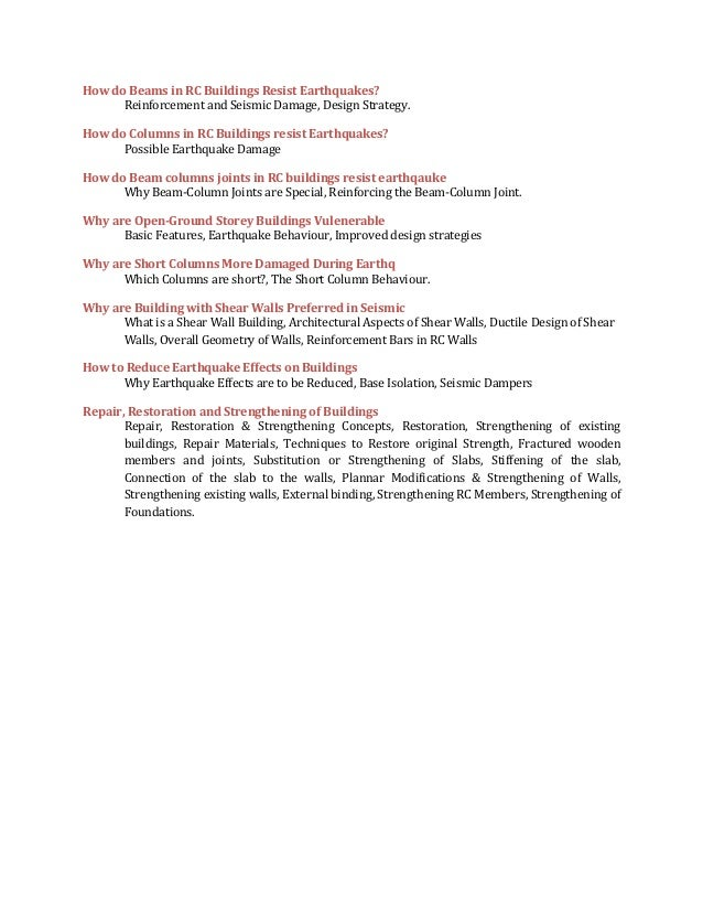 Details of subjects of civil engg