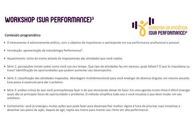 Detalhamento (Sua Performance)³