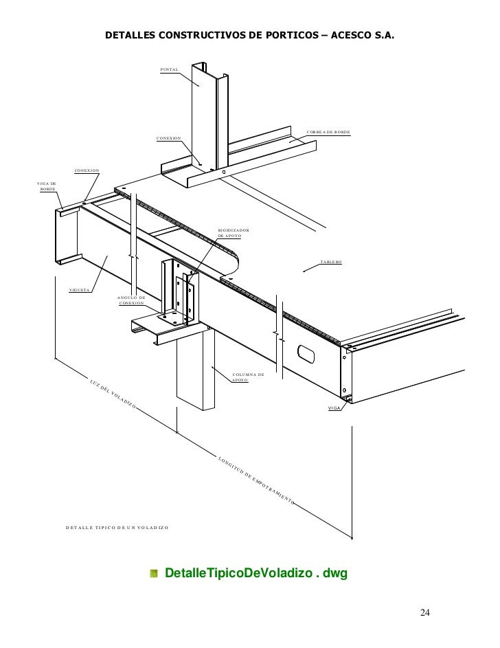 Detalles constructivos porticos for Detalles dwg