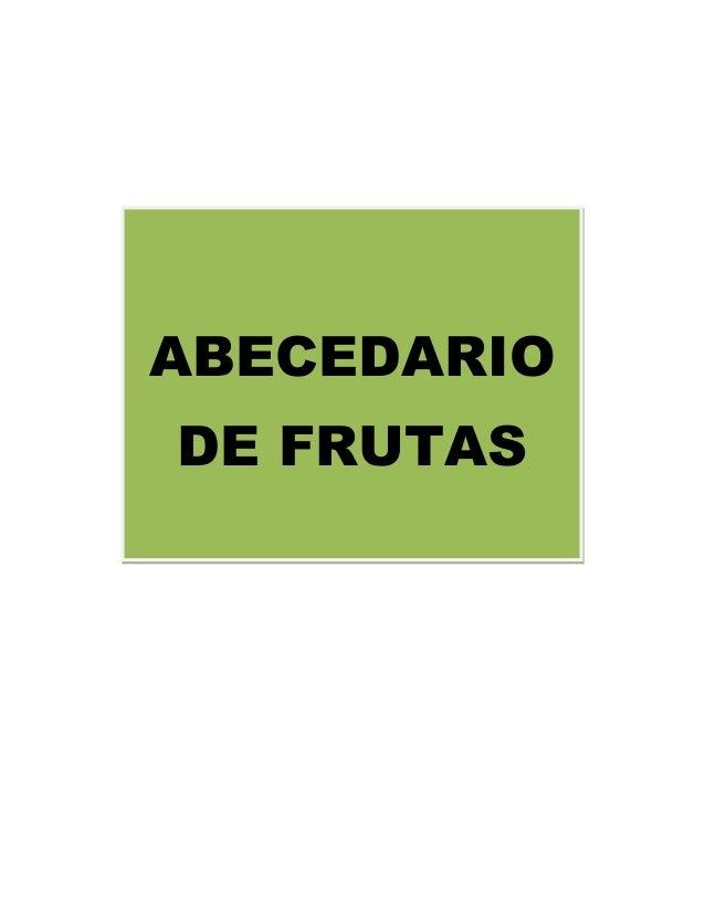 ABECEDARIO DE FRUTAS