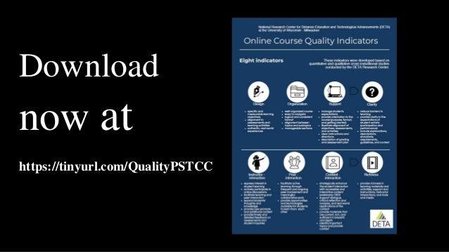 Download now at https://tinyurl.com/QualityPSTCC