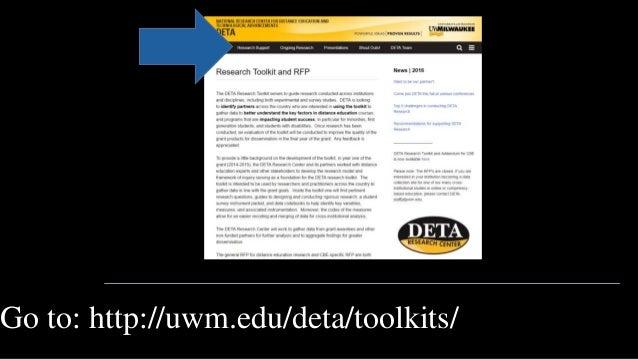 Go to: http://uwm.edu/deta/toolkits/