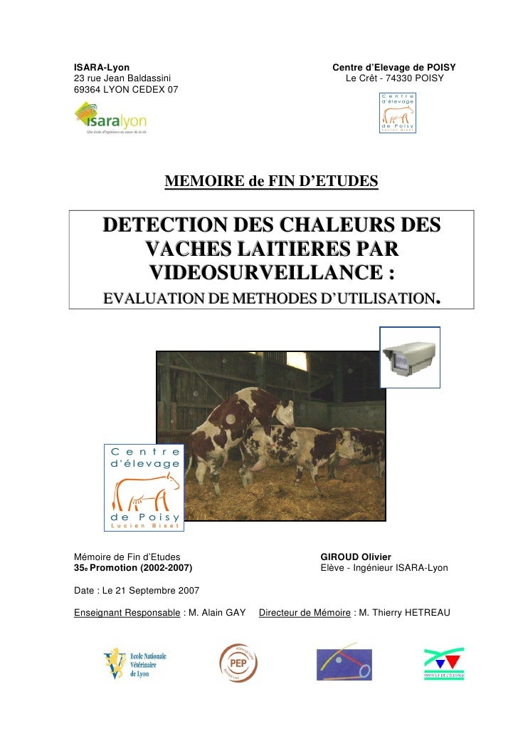 ISARA-Lyon                                             Centre d'Elevage de POISY 23 rue Jean Baldassini                   ...