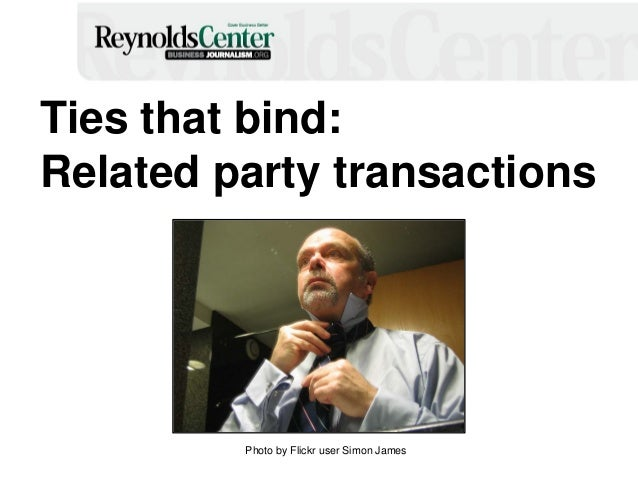 Ties that bind: Related party transactions Photo by Flickr user Simon James