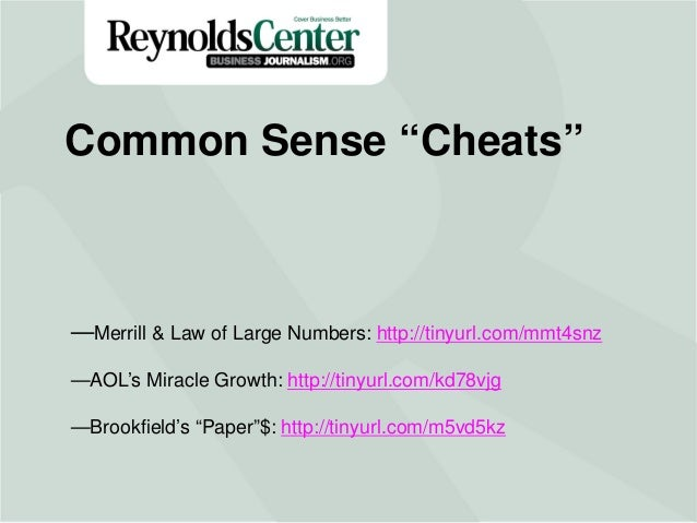 Title Slide—Merrill & Law of Large Numbers: http://tinyurl.com/mmt4snz —AOL's Miracle Growth: http://tinyurl.com/kd78vjg —...
