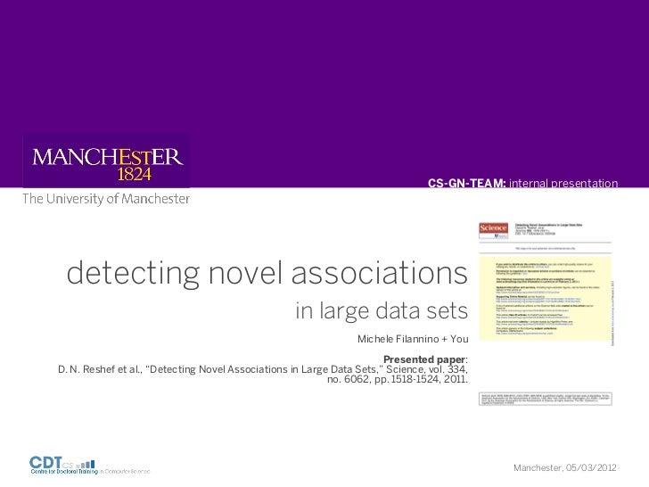 CS-GN-TEAM: internal presentation detecting novel associations                                                    in large...