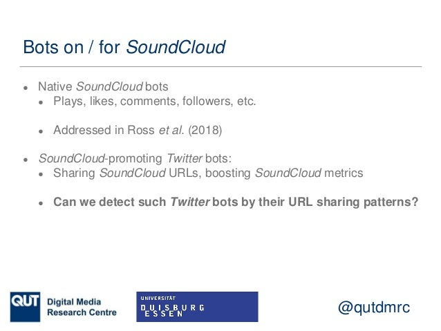 Detecting Twitter Bots That Share SoundCloud Tracks