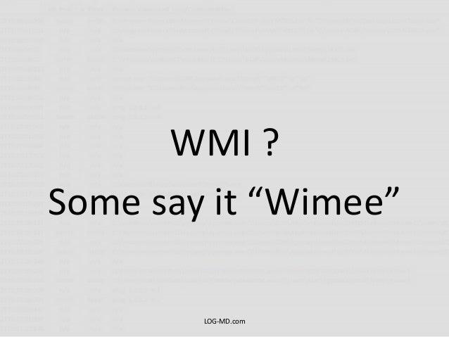 Detecting WMI Exploitation v1.1 Slide 3