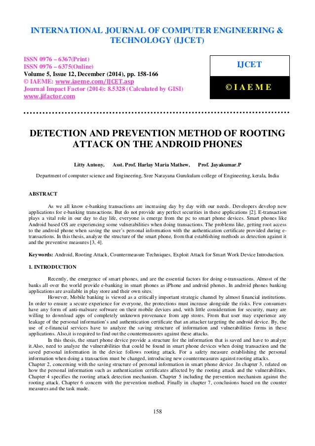 Detection and prevention method of rooting attack on the android phon…