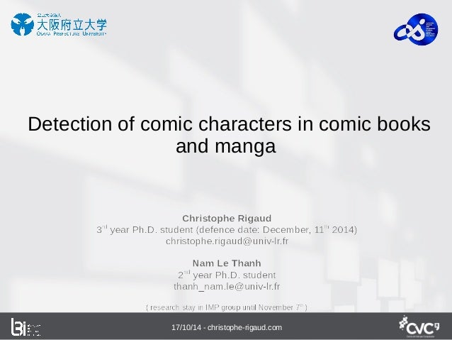 Detection of comic characters in comic books  and manga  17/10/14 - christophe-rigaud.com