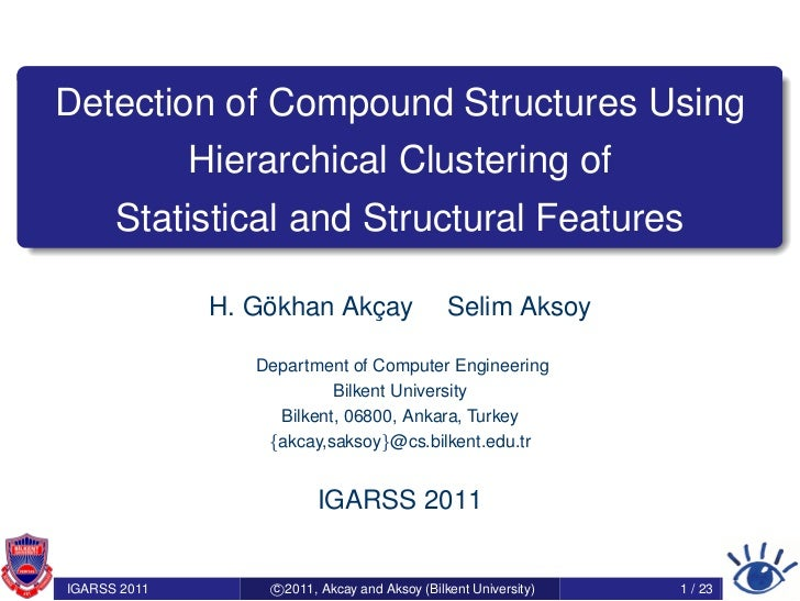 Detection of Compound Structures Using              Hierarchical Clustering of      Statistical and Structural Features   ...