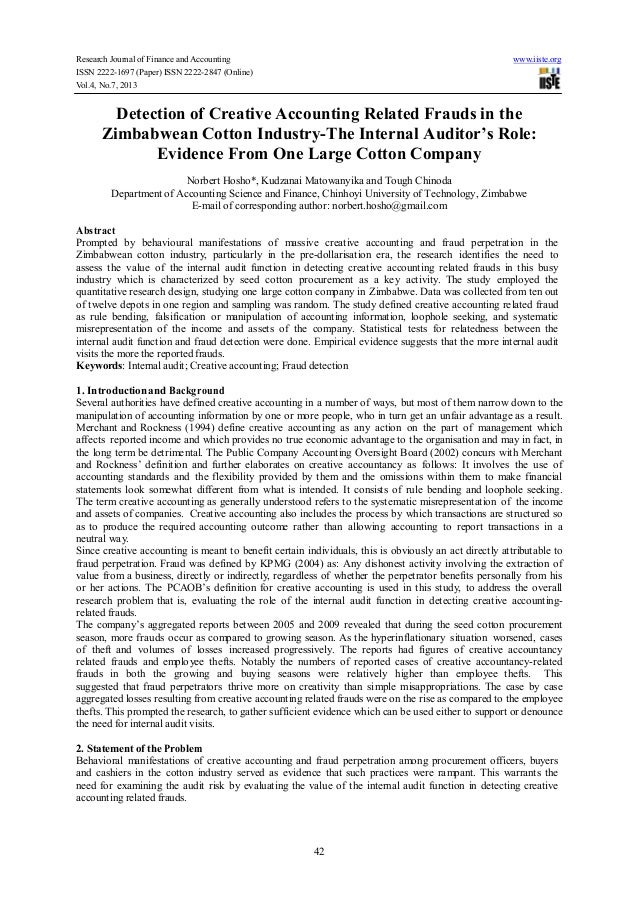 Research Journal of Finance and Accounting www.iiste.org ISSN 2222-1697 (Paper) ISSN 2222-2847 (Online) Vol.4, No.7, 2013 ...