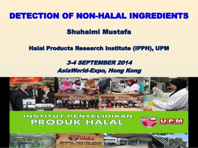 DETECTION OF NON-HALAL INGREDIENTS  Shuhaimi Mustafa  Halal Products Research Institute (IPPH), UPM  3-4 SEPTEMBER 2014  A...