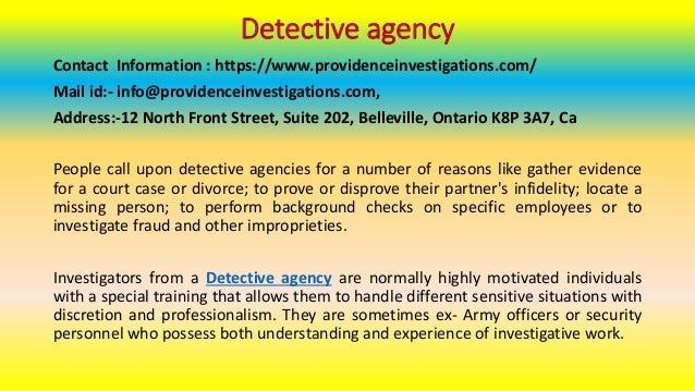 How to Find a Discreet Detective Agency Online