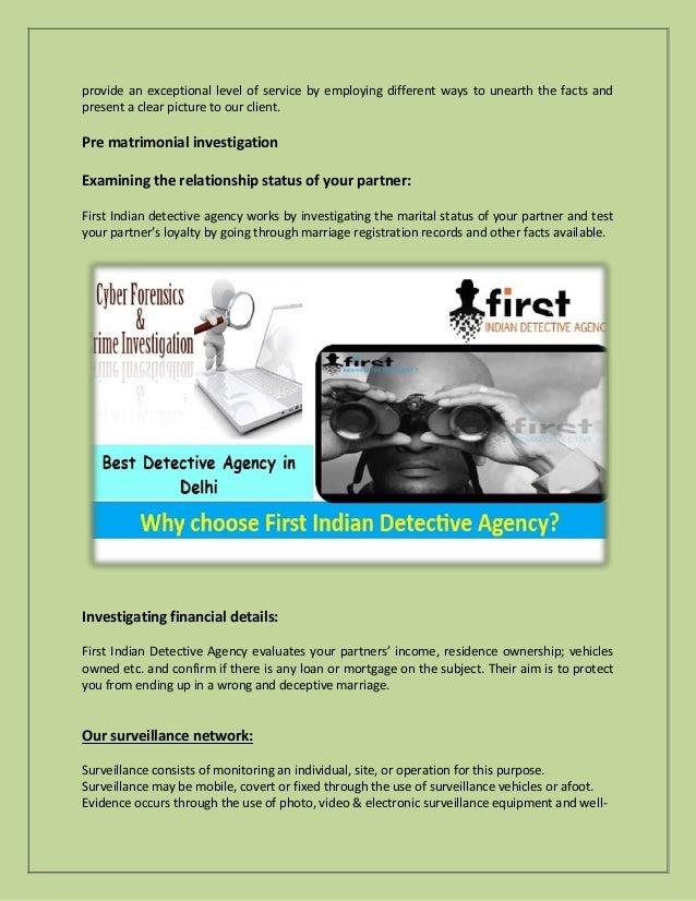 Detective agency in Delhi NCR   FIDA