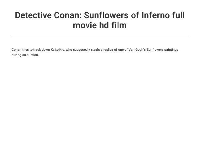 Download Film Detective Conan Sunflowers Of Inferno 2015