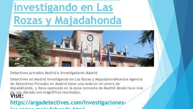 Detectives arga investigaciones privadas en las rozas y for Mudanzas en las rozas