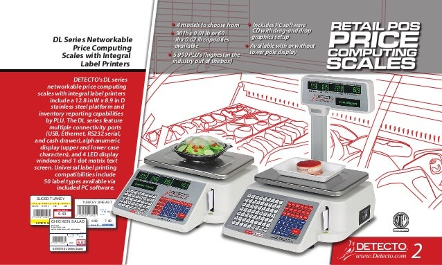 Detecto FoodService Scale Catalog