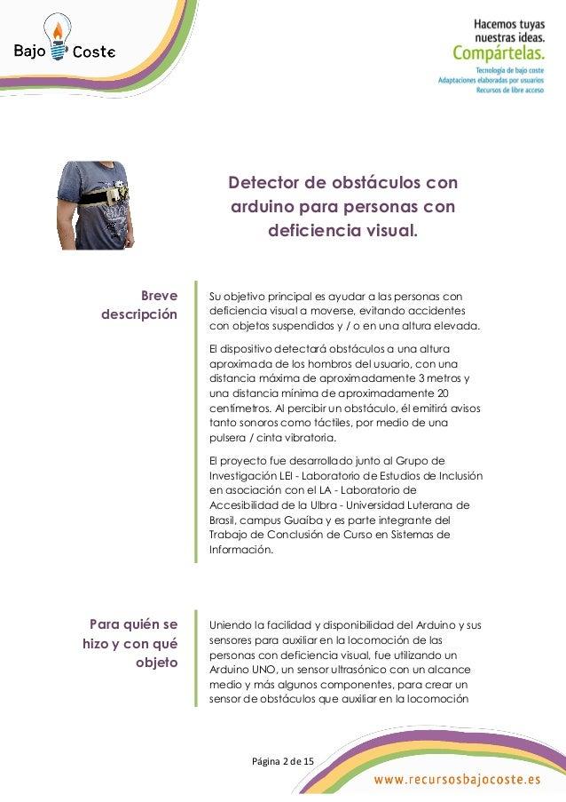 Detector de obstaculos con arduino para personas con deficiencia visual Slide 2