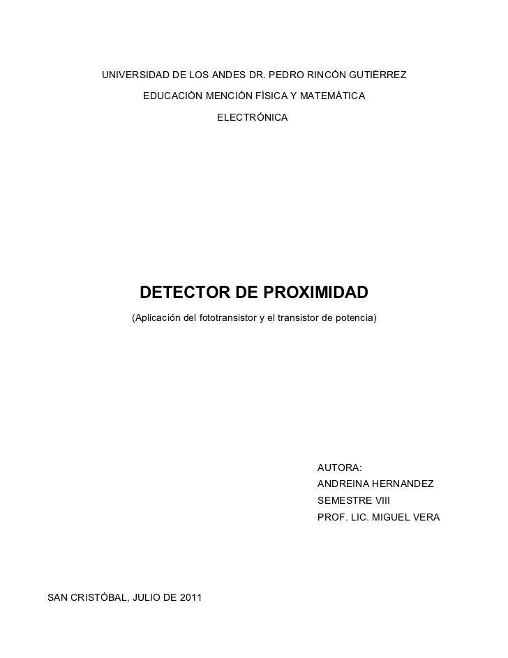 UNIVERSIDAD DE LOS ANDES DR. PEDRO RINCÓN GUTIÉRREZ                 EDUCACIÓN MENCIÓN FÍSICA Y MATEMÁTICA                 ...