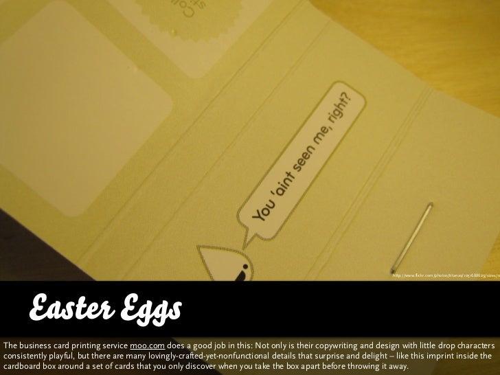http://www.flickr.com/photos/titanas/1051688629/sizes/o           Easter Eggs The business card printing service moo.com d...