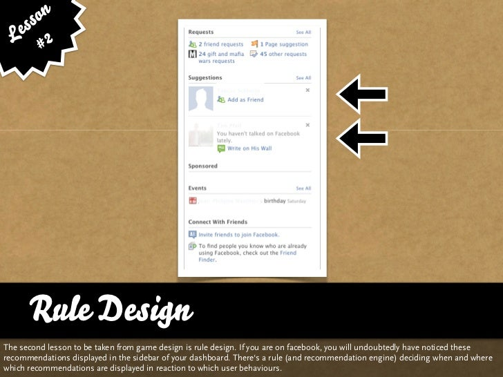 ss on    e 2   L #           Rule Design The second lesson to be taken from game design is rule design. If you are on face...