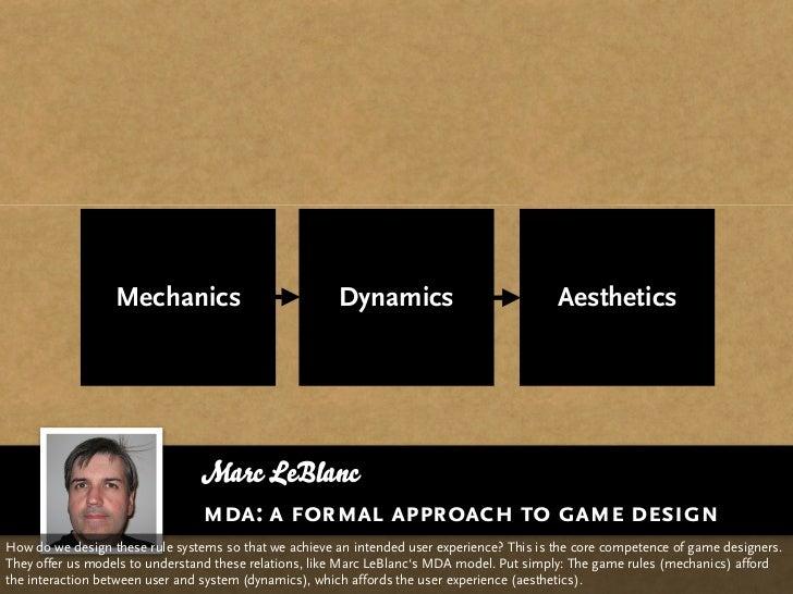 Mechanics                            Dynamics                             Aesthetics                                     M...