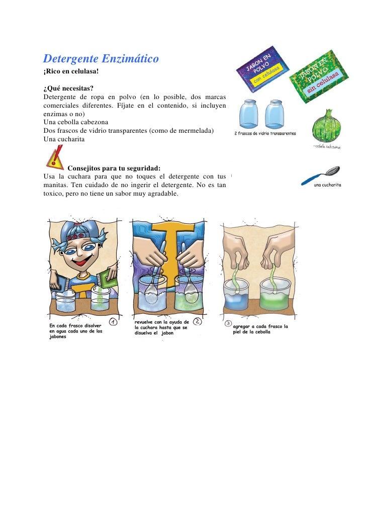 Detergente Enzimático¡Rico en celulasa!¿Qué necesitas?Detergente de ropa en polvo (en lo posible, dos marcascomerciales di...