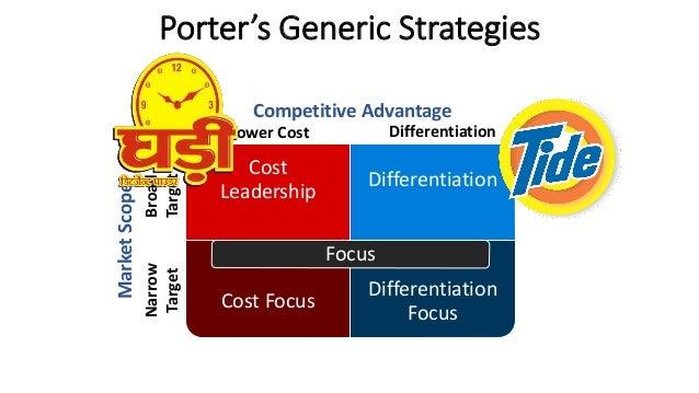 Detergent wars in india surf excel ariel nirma wheel for Porter s generic strategies