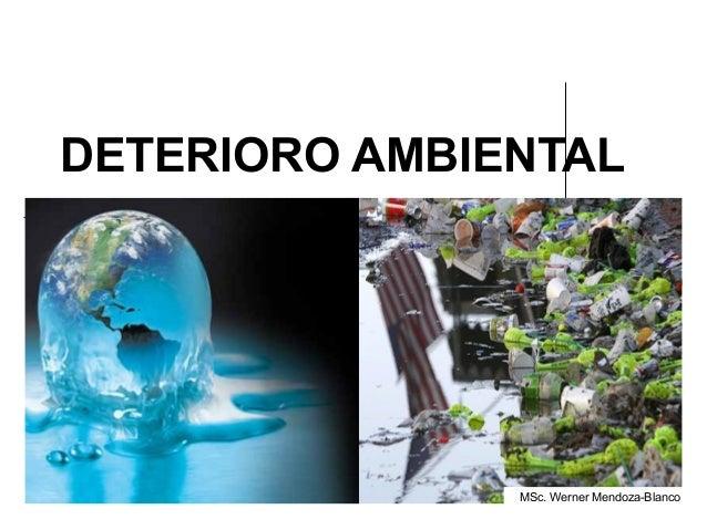 DETERIORO AMBIENTAL               MSc. Werner Mendoza-Blanco