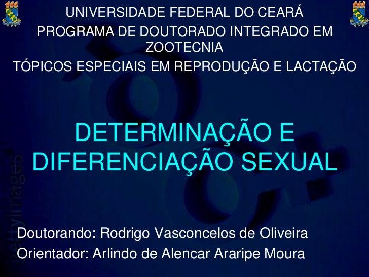 UNIVERSIDADE FEDERAL DO CEARÁ   PROGRAMA DE DOUTORADO INTEGRADO EM                 ZOOTECNIATÓPICOS ESPECIAIS EM REPRODUÇÃ...