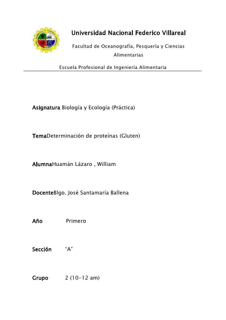 Universidad Nacional Federico Villareal               Facultad de Oceanografía, Pesquería y Ciencias                      ...