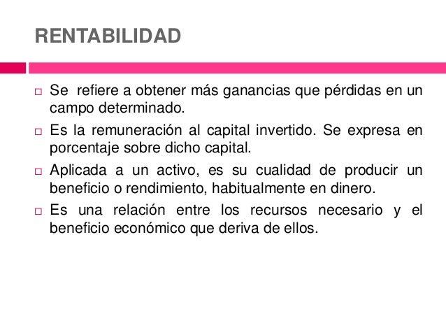Estructura Financiera Y Rentabilidad