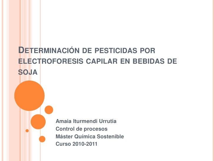 Determinación de pesticidas por electroforesis capilar en bebidas de soja<br />Amaia Iturmendi Urrutia<br />Control de pro...