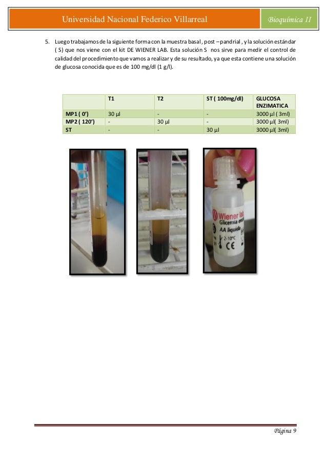 Determinacion de glucosa basal y posprandial