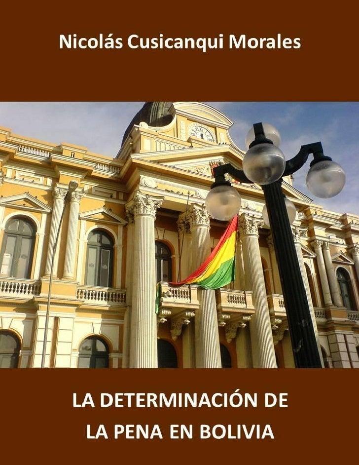 Nicolás Cusicanqui Morales                                            LA DETERMINACIÓN                                    ...