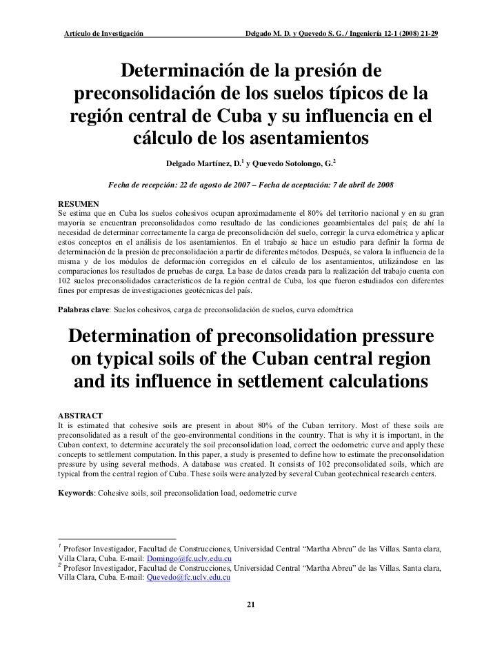 Artículo de Investigación                            Delgado M. D. y Quevedo S. G. / Ingeniería 12-1 (2008) 21-29         ...