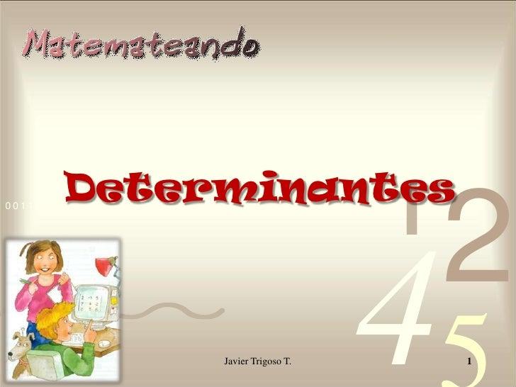 Determinantes<br />Javier Trigoso T.<br />1<br />