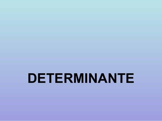 DETERMINANTE